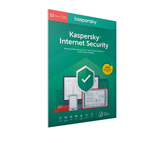 Kaspersky Internet Security 2018 | 10 Devices | 1 Year | PC/Mac/Android | Download