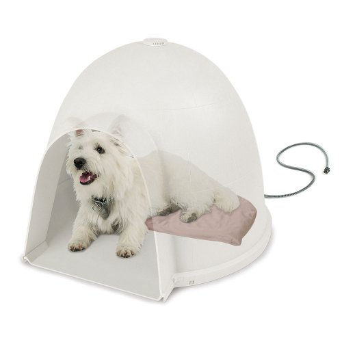 K&H Pet Products Lectro-Soft Igloo Style Dog Bed, Small 11.5-Inch x 18-Inch, 20-Watts