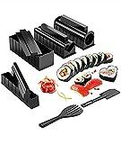 AINEKUI Kit de fabricación de sushi para principiantes, kit de fabricación de sushi Deluxe Edition con juego completo de sushi 10 piezas de plástico para sushi Maker Tool completa