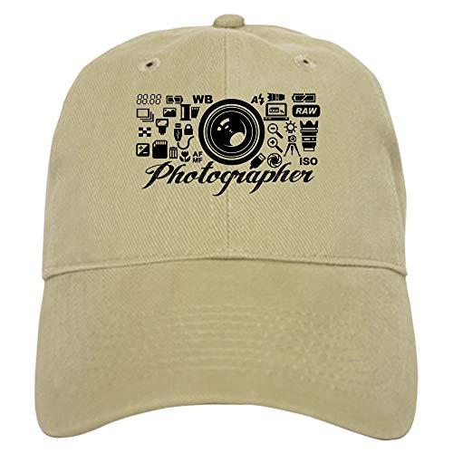 CafePress Photographer Icons Set Baseball Cap with Adjustable Closure, Unique Printed Baseball Hat Khaki