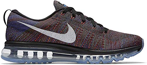 Nike Flyknit air max Mens Running Trainers 620469 Sneakers Shoes (UK 7.5 US 8.5 EU 42, Black White Medium Blue 016)