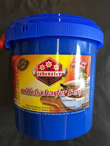 Senf Siebenstern mittelscharf 1 Kg Eimer