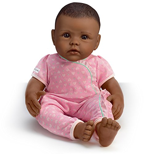 The Ashton - Drake Galleries So Truly Mine Baby Doll: Black Hair, Brown Eyes, African-American with Pink Outfit