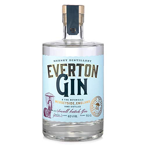 The Handmade Gin Company - Premium Everton Gin - 40% ABV - Hand Distilled in Britain - Juniper and Citrus tones - 70cl Bottle