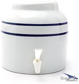 Bluewave Lifestyle Stripe Design Water Dispenser Crock, Blue - PKDS171