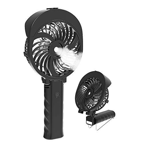 扇風機 ミスト、 HandFan 手持ち扇風機/卓上扇風機 折れ變化 噴霧の扇風機 携帯扇風機 加湿 ミニ USB充電式...