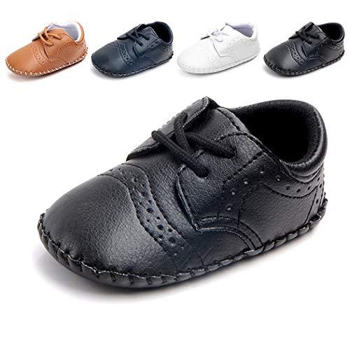 Josmo baby girls Unisex Walking First Walker Shoe, Black, 4 Infant US