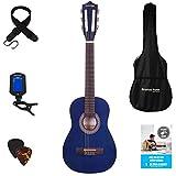 Klassische Gitarre für Kinder, 1/4-Größe, 78,7 cm, Nylonsaiten Quarter...*