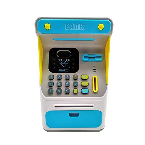 ZAKRLYB Smart Piggy Bank con reconocimiento de la Cara de Voz, gestión financiera plástica, Juguetes para niños, contraseña, música eléctrica, Almacenamiento de Monedas, Gran Capacidad, Adecuado para