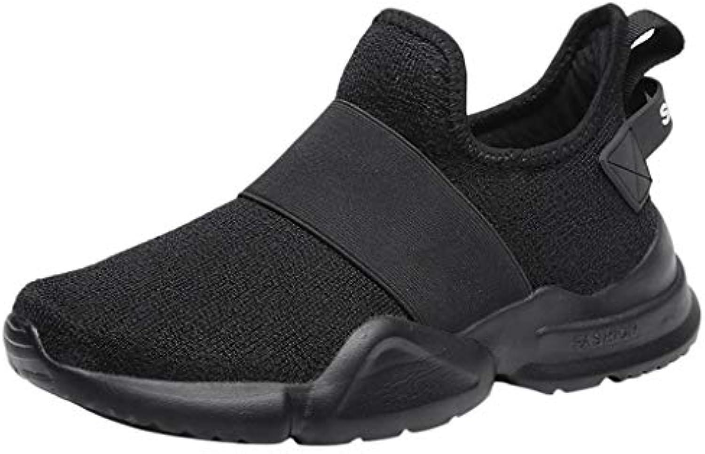 BESSKY Women's Mesh Low-Cut Flat-Slip Sneakers Outdoor Wild Running Work Lazy shoes