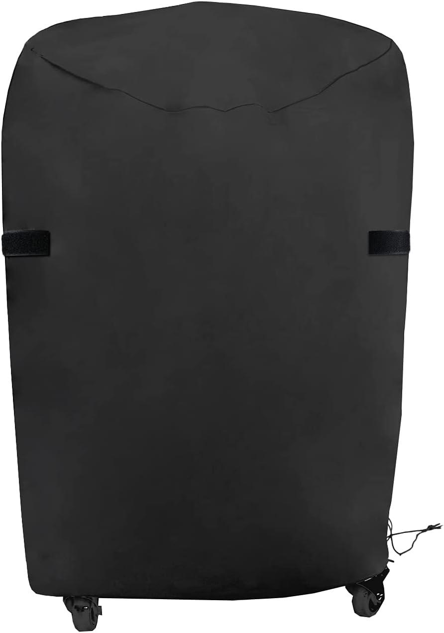 Priksia Cubierta para barbacoa, cubierta para barbacoa, resistente a los rayos UV y al agua, de tela Oxford 420D, redonda, 77 x 90 cm