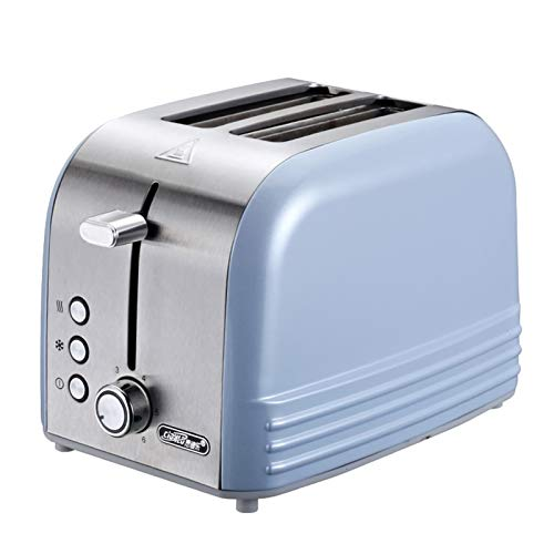 WANGYIYI Tostadora Inicio Desayuno Pan Maker Multifunción Acero Inoxidable Tostadora Automática Desayuno Sandwich Maker Thanaster Horno (Color : Blue)