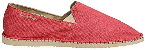 Havaianas Unisex Schuhe Damen und Herren, Yacht, Gemütliche Espandrilles mit angenehmen Leinen-Obermaterial und original Havaiana-Gummisohle, Rot (Red), EU 43,