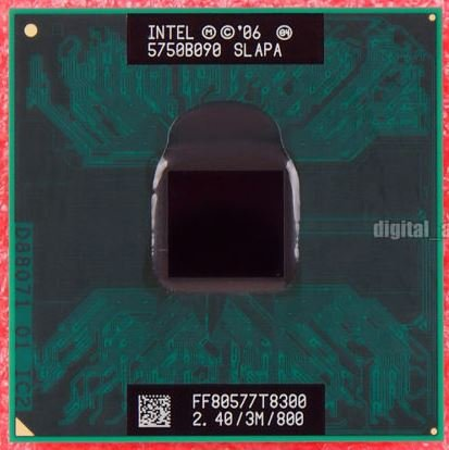 Intel Core T8300 Prozessor 2,40 GHz 3 MB L2 - Prozessoren (2,40 GHz, 45 nm, Intel Core 2 Duo T8000 Series, 3 MB, L2, FSB)