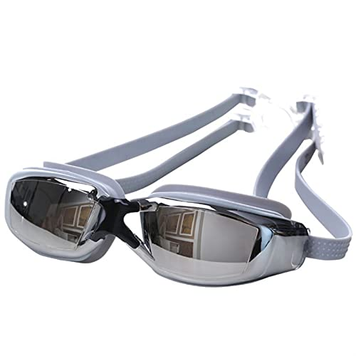 siqiwl Gafas de Natación Anti-Niebla Gafas de natación Ajustable Protección UV Niños/Niños Eyes de natación para Adultos (Color : Silver)