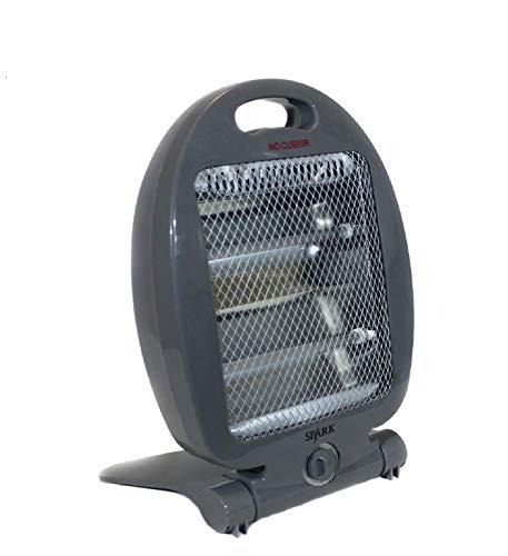 Quartz Calefactor Estufa DE Cuarzo 400W - 800W, INFRARROJO CALEFACCION ELECTRICA EN Gris Oscuro