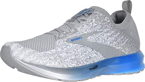 Brooks Mens Levitate 3 Running Shoe - White/Grey/Blue - D - 8.0