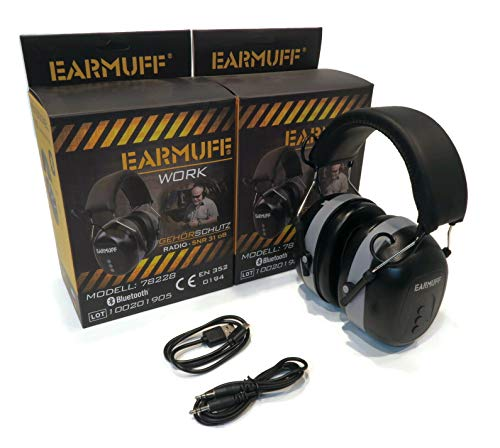 (Pack of 2) EarMuff Headphones with Bluetooth & Built-in Rechargable Battery