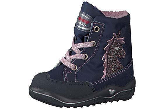 RICOSTA Mädchen Winterstiefel Alina, WMS: Mittel, wasserfest, toben Spielen Freizeit leger Winter-Boots lammfell-Stiefel,Nautic/Marine,24 EU / 7 UK