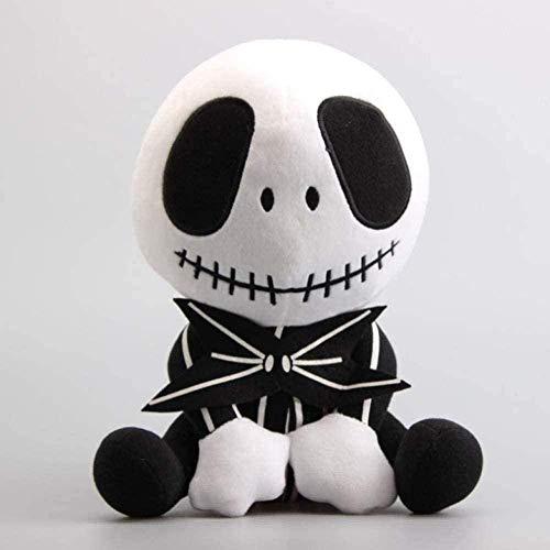 NZ Peluche de Dibujos Animados 11 28 cm Sentado Jack Plush Doll Plush Sofá Cojín Almohadas Jack Skeleton Peluches de Peluche
