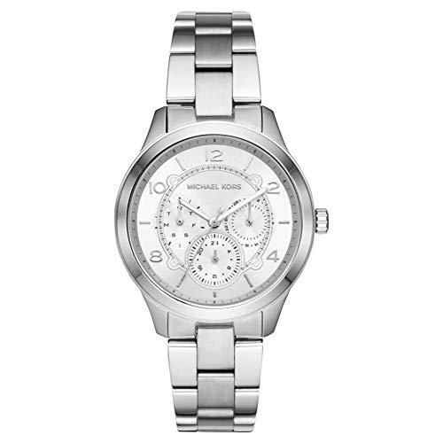 Michael Kors Damen Analog Quarz Uhr mit Edelstahl Armband MK6587