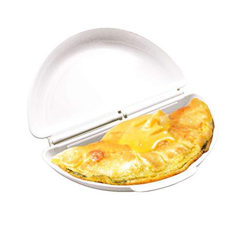 Calayu Mikrowelle Omelette Maker, Silikon Eierkocher Wilderer Schimmel Antihaft Ei gebratenes Tablett, spülmaschinenfest