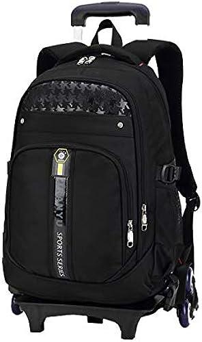 Qp-sb Dreirad Kinder Trolley Tasche Gründschule Junge 1-23-6 Grad schleppte Handtasche (Farbe   Schwarz