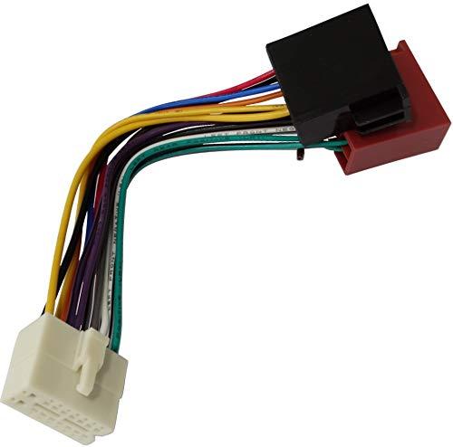 AERZETIX-h6Adapter Kabel Konverter ISO Autoradio Kabel Radio Adapter Stecker ISO Kabel passend Clarion