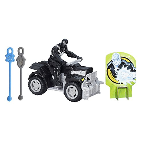Marvel Ultimate Spiderman Web Warriors Agent Venom Action Figure avec Quad Racer véhicule Playset