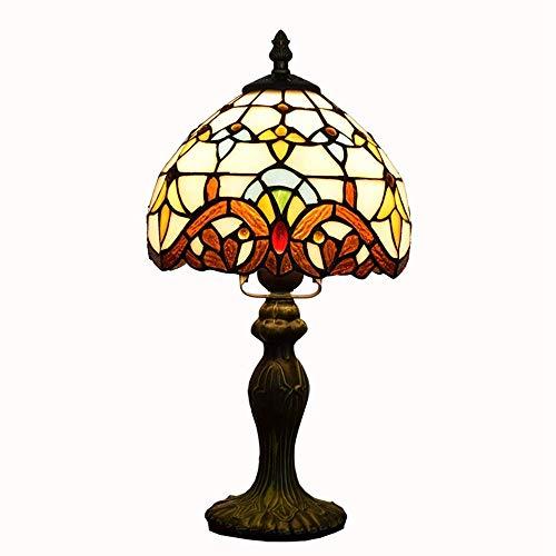 ZGQA-GQA Tabla creativa de la lámpara de Tiffany Stained Glass Europea barroco creativo dormitorio Mesita de luz de la lámpara de la lámpara pequeña tabla (7' Ancho 14' Altura) cubierta Tiffany Lámpar
