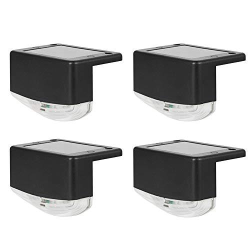 Solar Deck Lichter Laterne,4 Stück Stufenlampe LED Landschafts Beleuchtung IP65 Wasserdicht Drahtlose Sicherheitslampen Intelligente Steuerung Für Gartenzaun Pfad Im Freien Schritte Treppen Decks