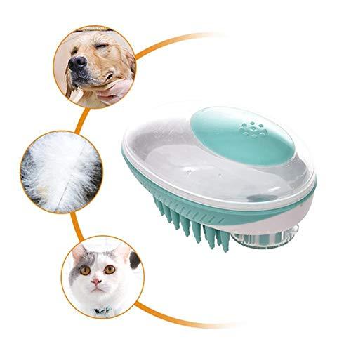 LANGYUAN Cepillos para Perros Pet Dog Cat Bath Brush Grooming Bathing Shower Comb Dispensador de champú fácil para Cat Loose Hair Remover Pet Dog Puppy Massager ⭐