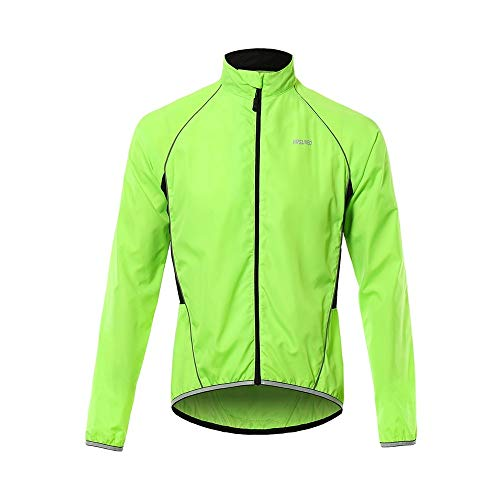 MEROURII Giacche Ciclismo, Giacca Corsa Bici Lunghe Maniche Antivento Traspirante con Strisce Riflettenti, Sport all'Aria Aperta