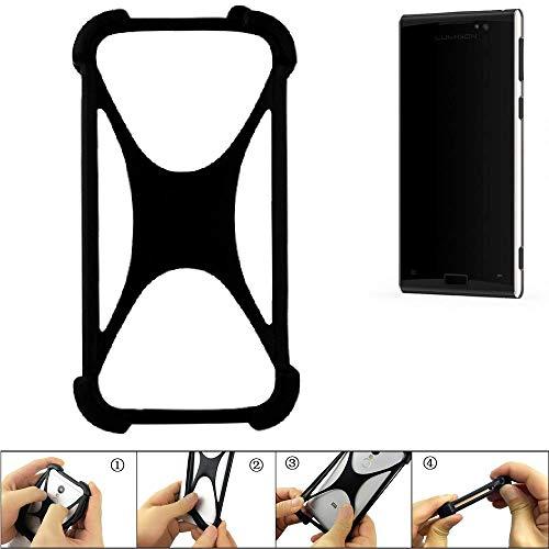 K-S-Trade Handyhülle Für Lumigon T3 Schutz Hülle Silikon Bumper Cover Hülle Silikoncase TPU Softcase Schutzhülle Smartphone Stoßschutz, Schwarz (1x)