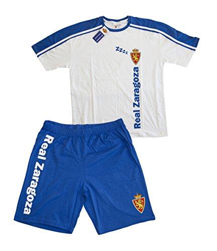 Real Zaragoza Pijzar Pijama Corta, Azul/Blanco, M