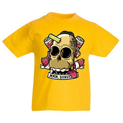 N4413K La Camiseta de los niños Insertar Cerebro aquí (5-6 Years Amarillo Multicolor)