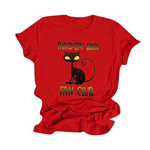 manadlian T-Shirts Costumes Halloween Chemisier Imprimé Citrouille Blouse Chemisiers 2020 Nouveau Fille Mode Vêtements Chic Manches Courtes Tops