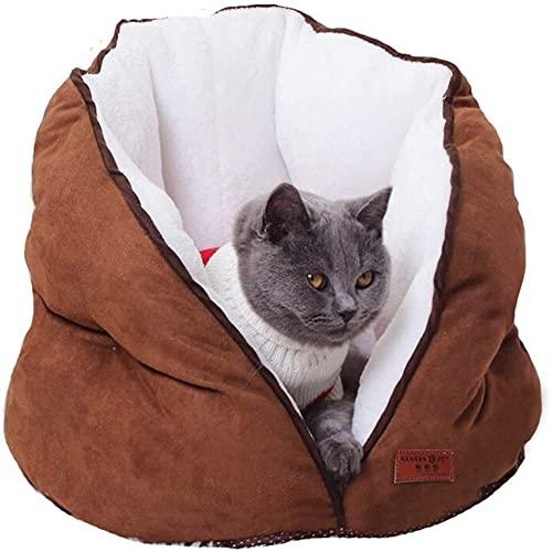 ZAJIWF Arena para Gatos Saco De Dormir para Gatos Arena para Mascotas Lavable Alfombra para Gatos Semicerrada Tienda De Campaña Perrera Cuatro Estaciones General,2#,S