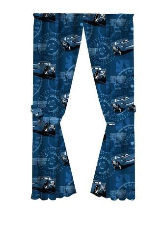 "Cars 3 Disney Pixar Curtains, Room Darkening Window Panels, 2 Panels 42"" W x 63"" L Each, with Tie Backs"