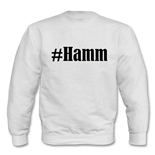 Reifen-Markt Sweatshirt Kinder #Hamm Größe 152 Farbe Weiss Druck Schwarz