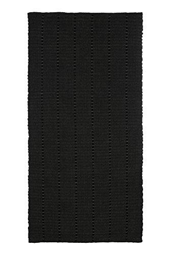 Jute & Co Ibiza tapijt, handgeweven, chenille, zwart, 60 x 90 cm