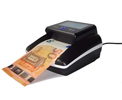 Geldscheinprüfer Währungtester Banknotentester Banknotenprüfer Falschgeldtester mit Zählfunktion Öffnungsklappe für die einfachste Sensorenreinigung