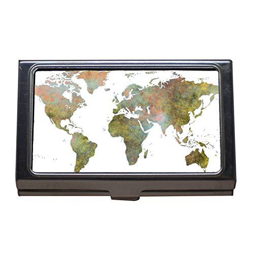 Soporte para tarjetas de visita, carteles, mapas del mundo, vitaminas para perros, estuche para tarjetas de visita de acero inoxidable