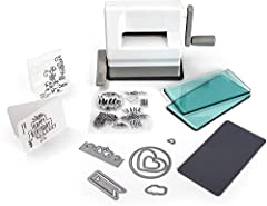 MACHINE COMES WITH – A complete starter kit! See the product description below for listed items. PORTABLE - The perfect portable machine for creative paper craft projects on the go, for crafters ranging from beginner to expert. VACUUM SEAL - Allows y...