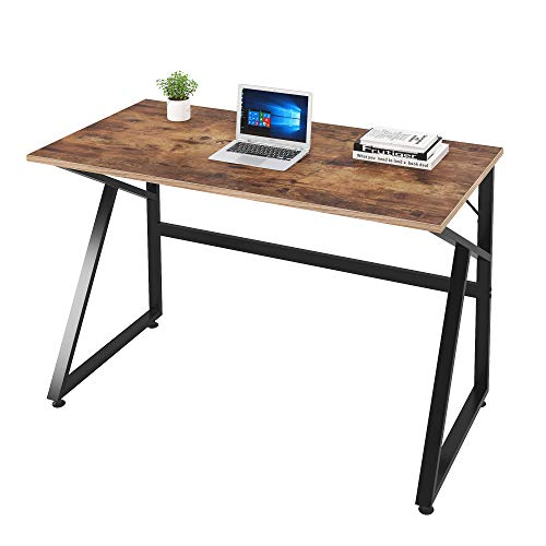 Magic Life Home Office Desk Computer Desk 47 Inch for Home Office, Laptop Desk with K-Shaped Legs, PC Desk for Modern Simple Style, Brown