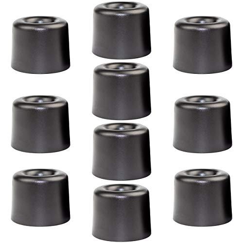 Enkotrade 10 Stück Türstopper Ø 20mm, zum Festschrauben, aus Kunststoff, Türpuffer Türanschlag oder als Möbelfuß verwendbar