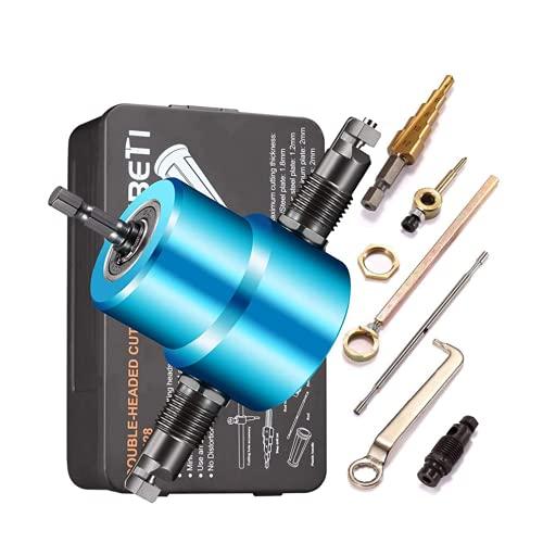 XDXDO 7pcs Hoja Nibbler Metal Cutter, Calidad Nibbler Talad el Accesorio para la Curva Recta y el Corte del círculo, el máximo de 14 Calibre