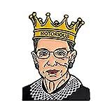 2-en-1 Ruth Bader Ginsburg and I Dissent Esmalte Pin para mochila The Unemployed Philosophers Guild Ruth Bader Ginsburg Dissent Esmalte Pin Set 2 Pines de solapa de metal de colores únicos