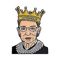 ルース・ベイダー・ギンズバーグと私はエナメルのピンセットに異議を唱える悪名高いRBGピン女性の独立した平等バッジ
