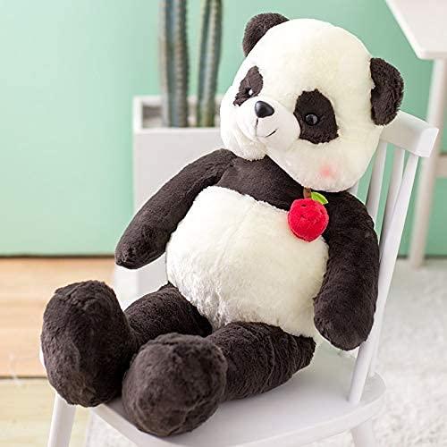 XIAN Peluche panda géant en forme de fraise, corsage, mangue, ours brun, cerise, canard, peluche à câliner, 100 cm, couleur : A, taille : 80 cm